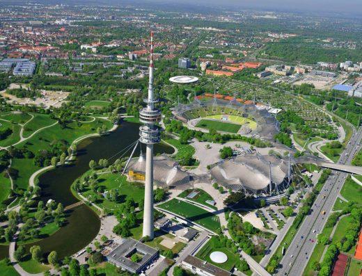 Olympiapark-München-Olympiaturm-munich-citytourcard-münich-alps-mountains